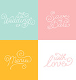 Wedding hand-lettering vector image