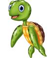 Cute sea turtle vector image vector image