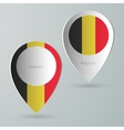 paper of map marker for maps belgium vector image