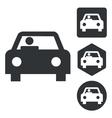 Car icon set monochrome vector image