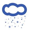 snowing cloud icon vector image