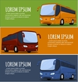 Tourist Bus Banner vector image