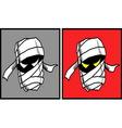 Mummy Halloween mask 2 vector image
