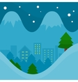 Winter Season Concept in Flat Design vector image