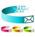 Pixel Email Banners vector image vector image