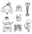 cartoon monsters set01 vector image