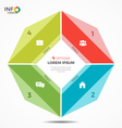 colorful infographic template with circle chart 4 vector image