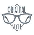 original style logo simple style vector image