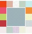 Polka dots set EPS 10 vector image