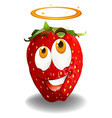 Red strawberry with bless emotion vector image