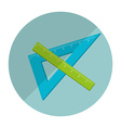 school supplies icon vector image