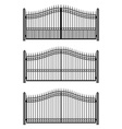 Set of gates vector image