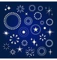 Starburst stars and sparkles burst icons set vector image