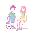 children family brother and sister vector image