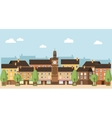 Small Town Urban Landscape vector image