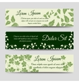 Eco horizontal banners with green branches vector image