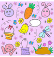 collection stock of easter egg doodles vector image