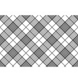 Monochrome fabric diagonal seamless texture vector image