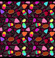 ice cream pattern 7 dark big vector image