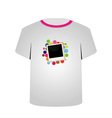 T Shirt Template- Polaroid vector image
