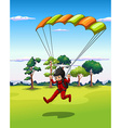 Hang gliding vector image
