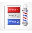 baber shop pole option banner vector image