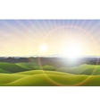 horizontal landscape background vector image vector image