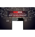 App Development Infpgraphic Concept Background vector image