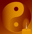 Buddhist Candle vector image
