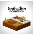construction isometrics design vector image