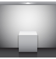 Empty White Stand vector image
