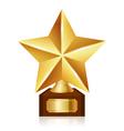 gold star award vector image