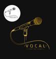 microphone logo vector image