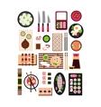 Restaurant Asian Cuisine Flat vector image