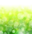 spring forest bokeh vector image