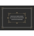 Vintage Ornament Quote Marks Box Frame vector image