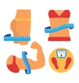 Weight loss and muscles growth Flat vector image