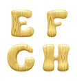 Wood alphabet letters vector image