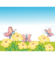 Flying butterflies vector image vector image