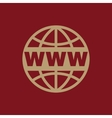 The WWW icon SEO and browser development www vector image