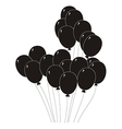 black silhouette of a balloons vector image