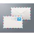 Postage envelope with stamps vector image