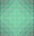 Green Gradient Dots Diamond Pattern Background vector image vector image