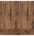 wood wall and floor vector image