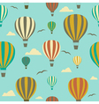 Seamless background with hot air balloons vector image