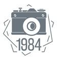 1984 photo camera logo simple style vector image