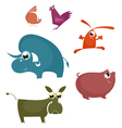 Cartoon funny farm animals vector image vector image