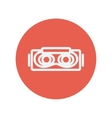 Virtual reality mask thin line icon vector image
