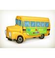 Yellow school bus vector image