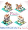Venice 01 Tiles Isometric vector image